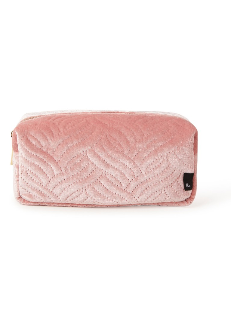 Image of &Klevering Small make-up tas van fluweel