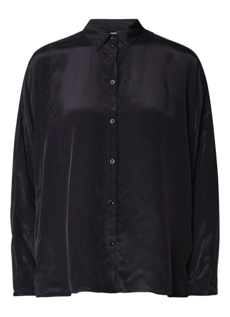 Diesel C-LURY blouse met lace-up detail