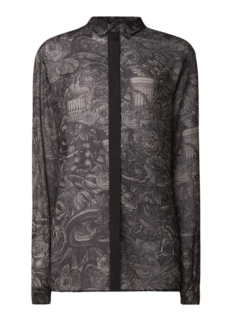 Diesel C-Loisy-B semi-transparante blouse met dessin
