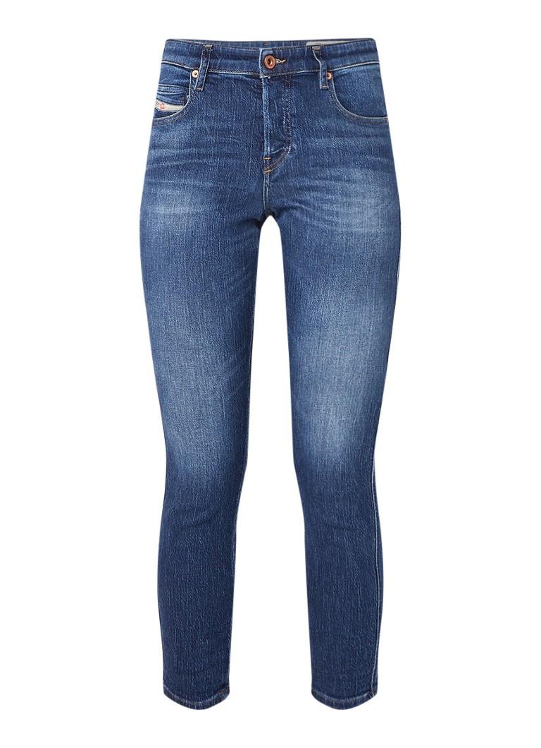Diesel Babhila high rise cropped slim-skinny jeans met stretch