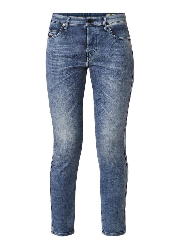 Diesel Bibhila high rise cropped slim fit jeans met stretch