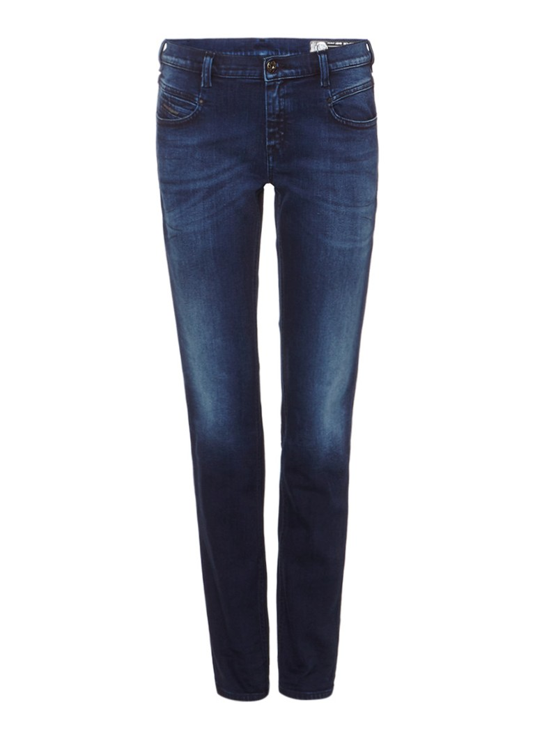 Diesel Belthy low waist slim-straight jeans met stretch 084BV