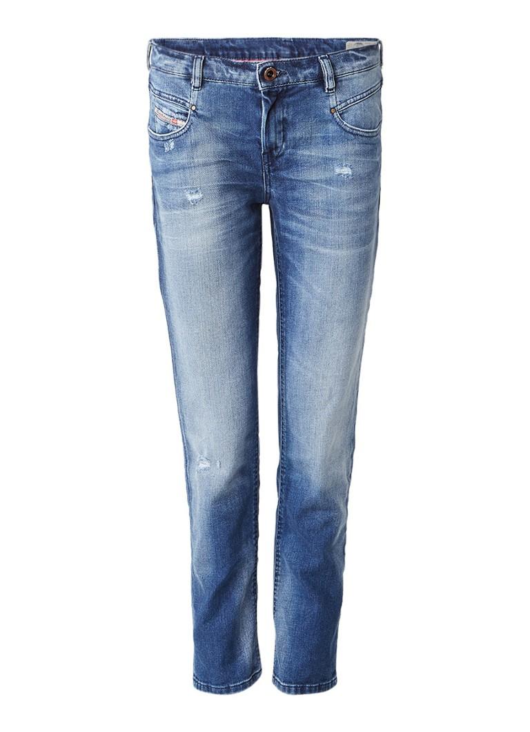Diesel Belthy low waist slim-straight jeans met stretch 084DD