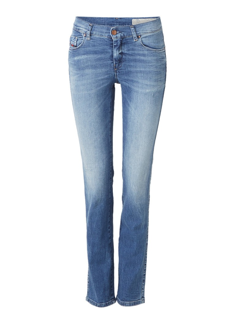 Diesel Sandy mid rise regular slim-straight fit jeans 0681U