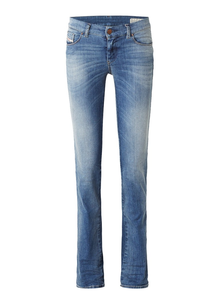 Diesel Sandy high rise slim fit jeans met stretch 0675D