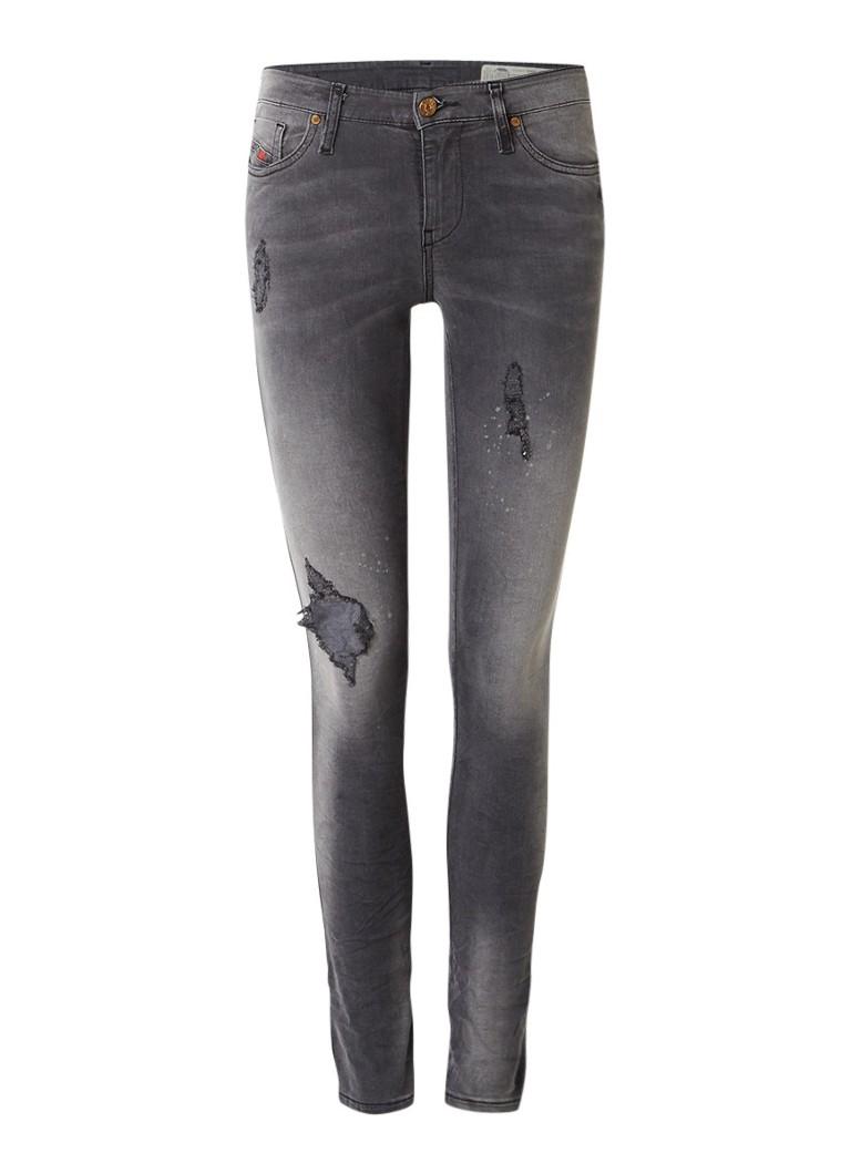 Diesel Skinzee regular waist skinny jeans met destroyed look