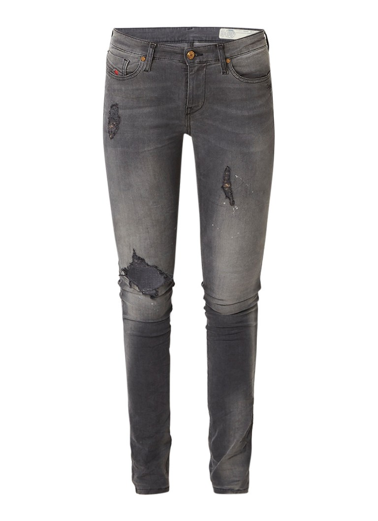 Diesel Skinzee mid rise skinny jeans met stretch 0683L