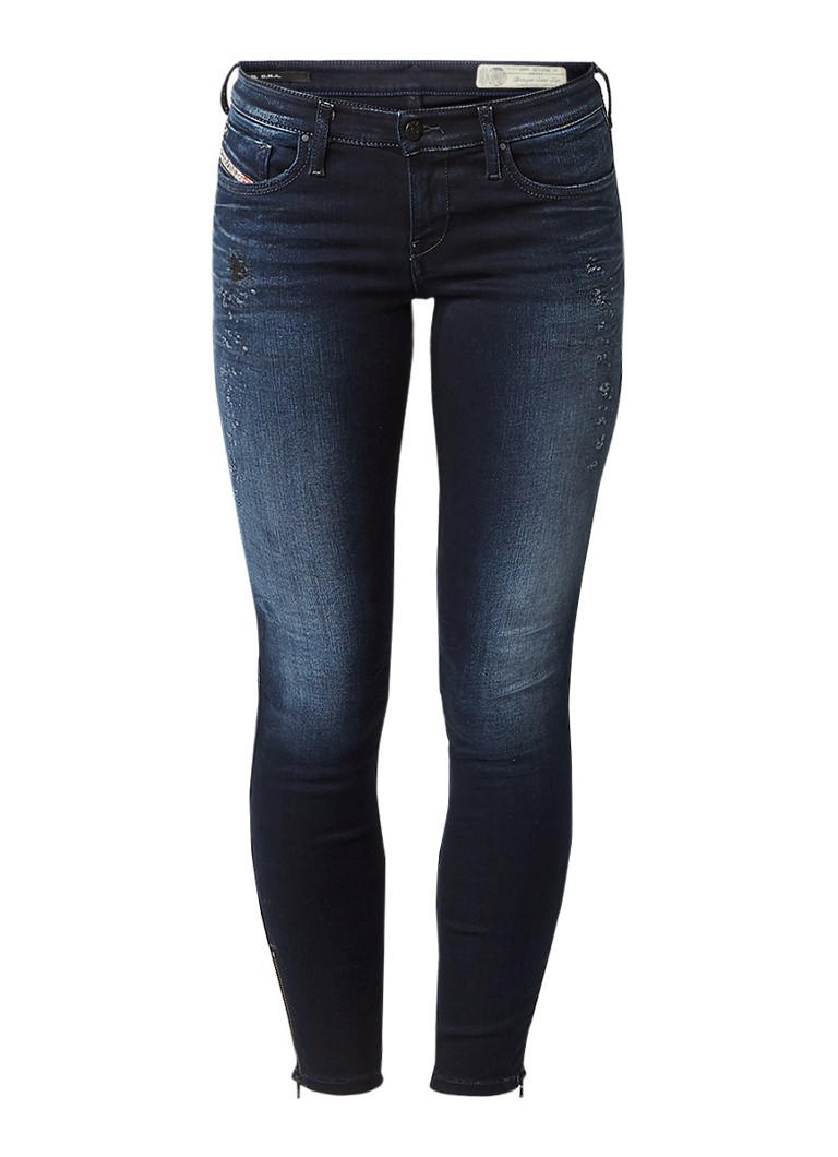 Diesel Skinzee low rise skinny jeans met enkelrits 084HZ