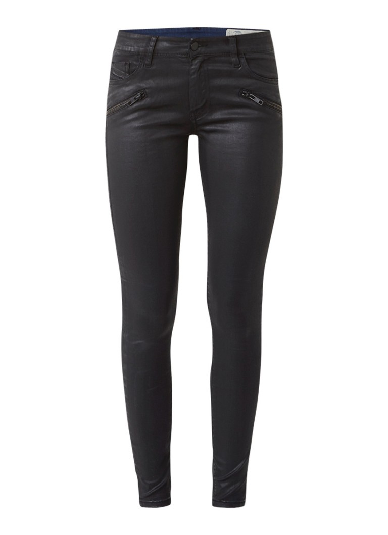 Diesel Slandy regular waist super slim-skinny jeans met coating 0662E
