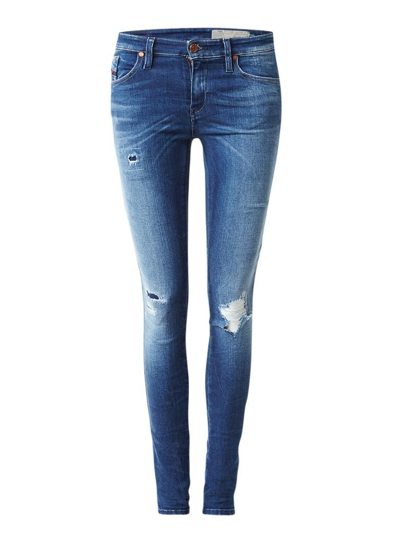 Diesel Skinzee mid waist skinny jeans met destroyed look