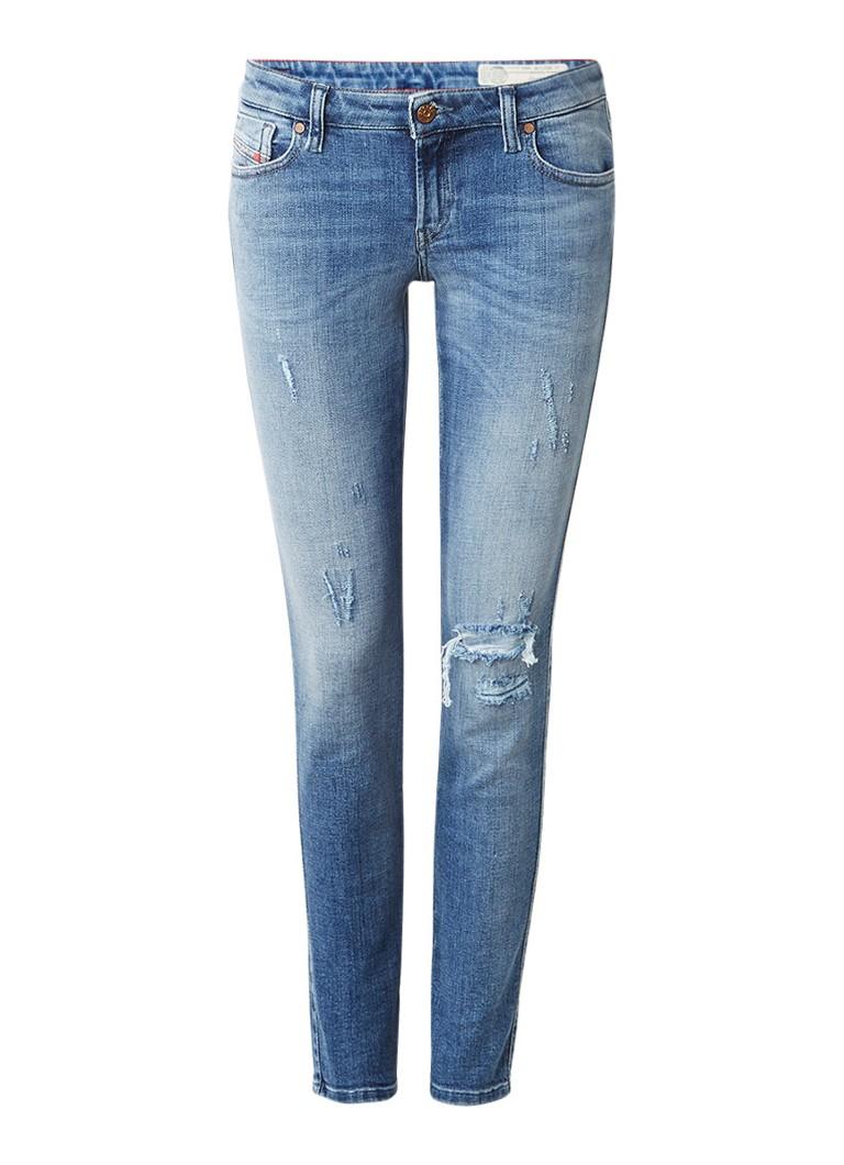 Diesel Gracey low rise skinny jeans met destroyed detail 084GL