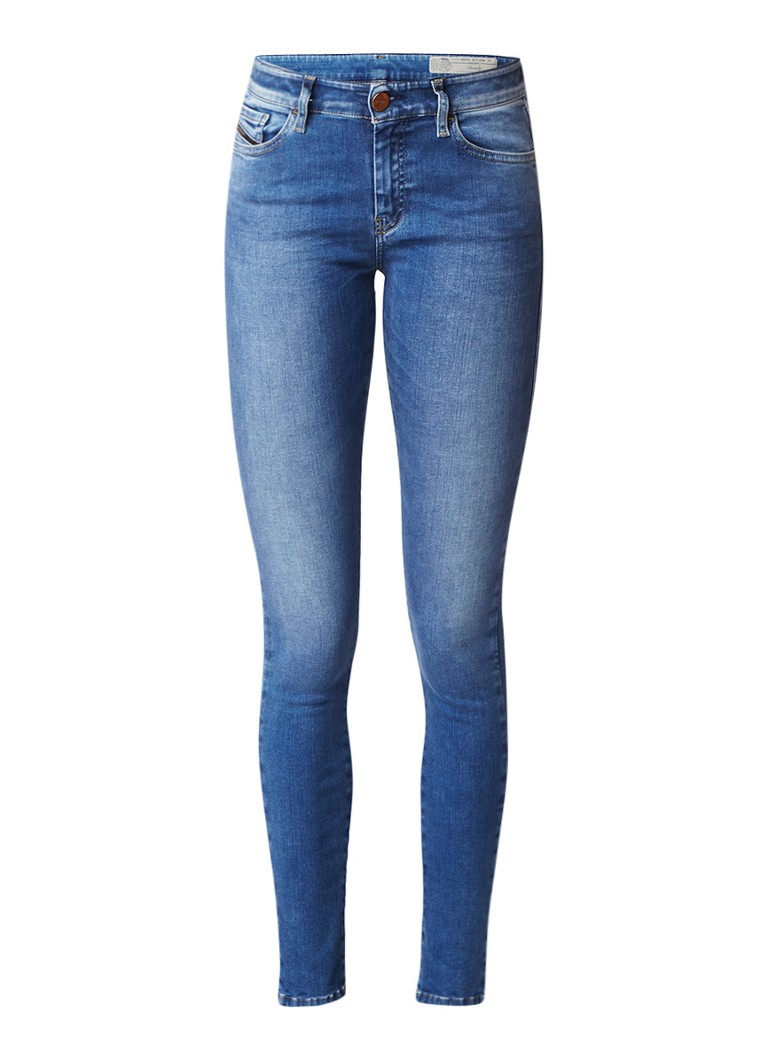 Diesel Slandy mid rise faded skinny fit jeans 084NM