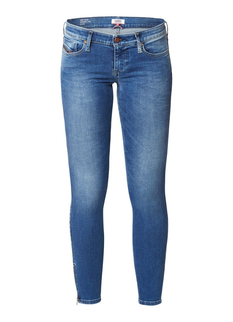 Diesel Skinzee low rise skinny fit jeans met ritsdetail