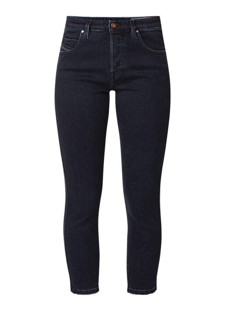 Diesel Babhila mid waist slim fit jeans met onafgewerkte zoom