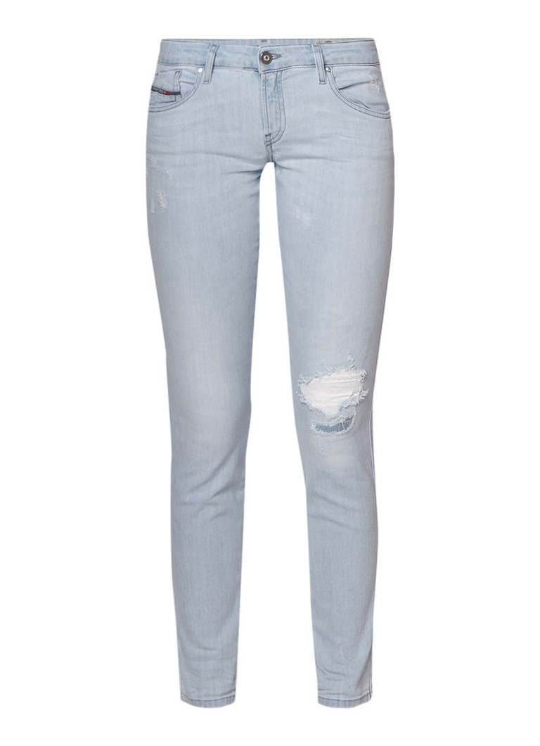 Diesel Gracey low rise slim-skinny jeans met destroyed details