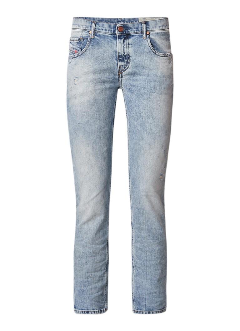Diesel Belthy cropped slim fit jeans met destroyed detail 084RF