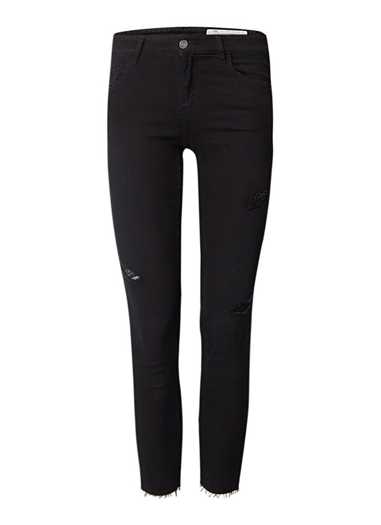 Diesel Slandy-Ankle mid rise skinny jeans met destroyed detail 084EX