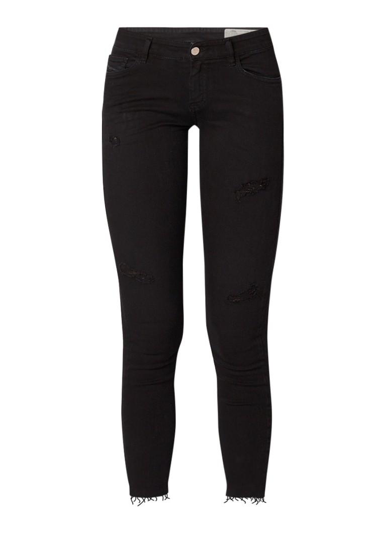Diesel Slandy-Ankle mid rise skinny jeans met donkere wassing