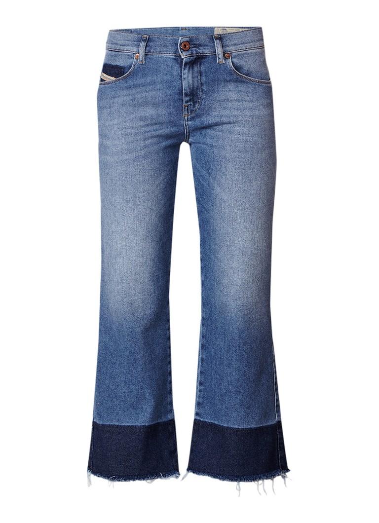 Diesel Sandy mid rise kick flare jeans met gerafelde zoom