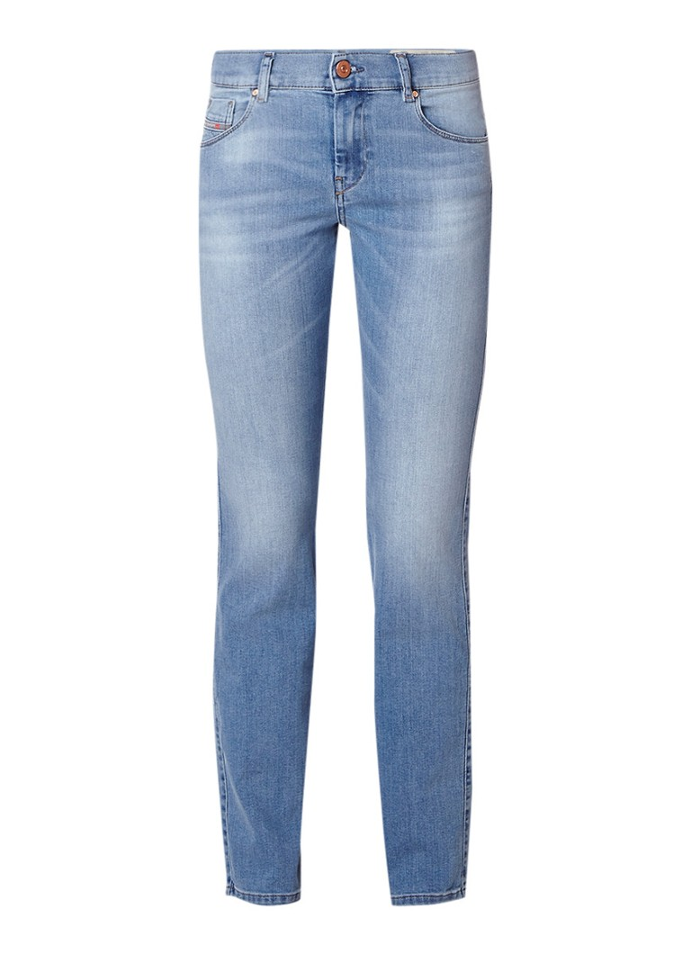 Diesel Sandy mid rise slim-straight fit jeans met lichte wassing