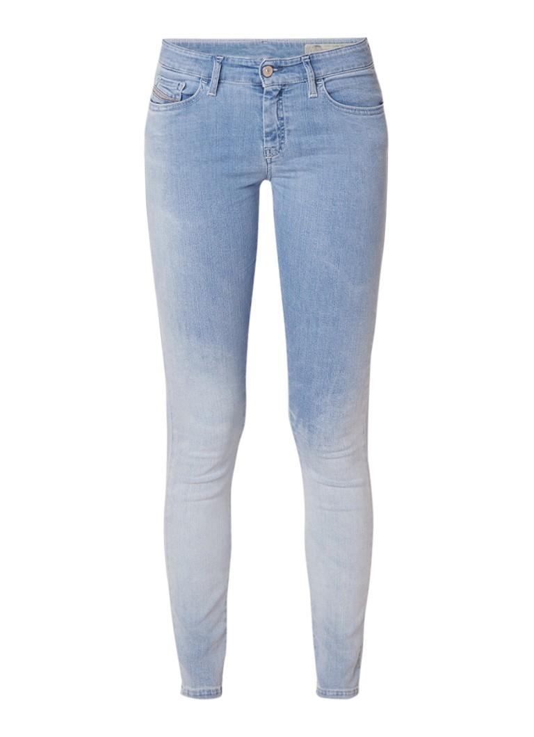 Diesel Slandy mid rise super slim-skinny jeans met lichte wassing