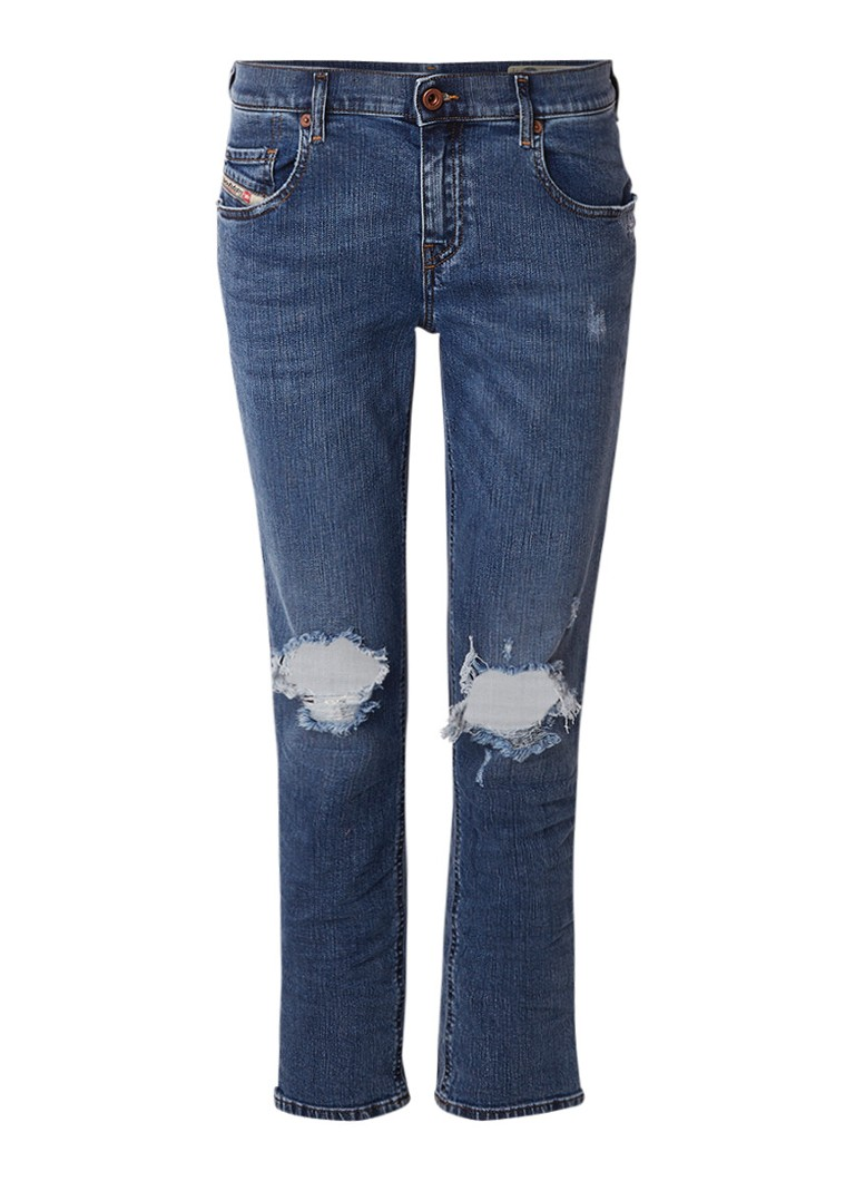 Diesel Belthy-Ankle cropped slim straight fit jeans