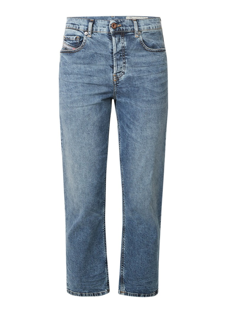Diesel Aryel mid rise cropped Regular-Straight fit jeans met stretch 084AUX