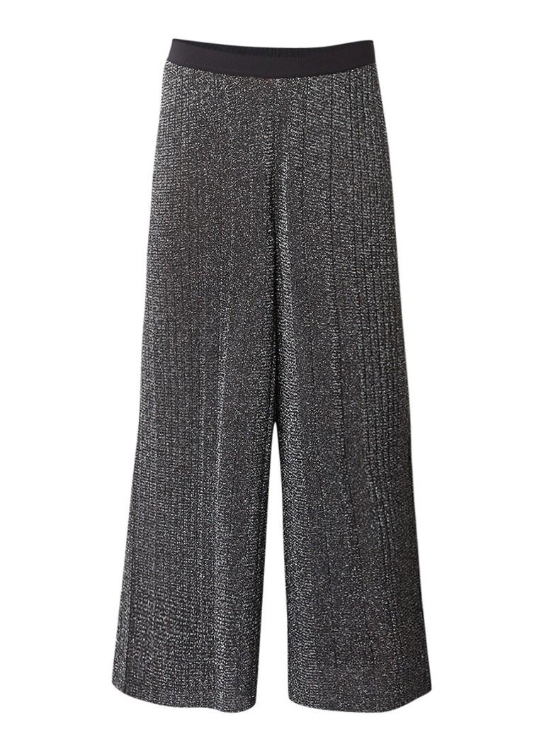 Diesel M-Chicy loose fit cropped pantalon met lurex