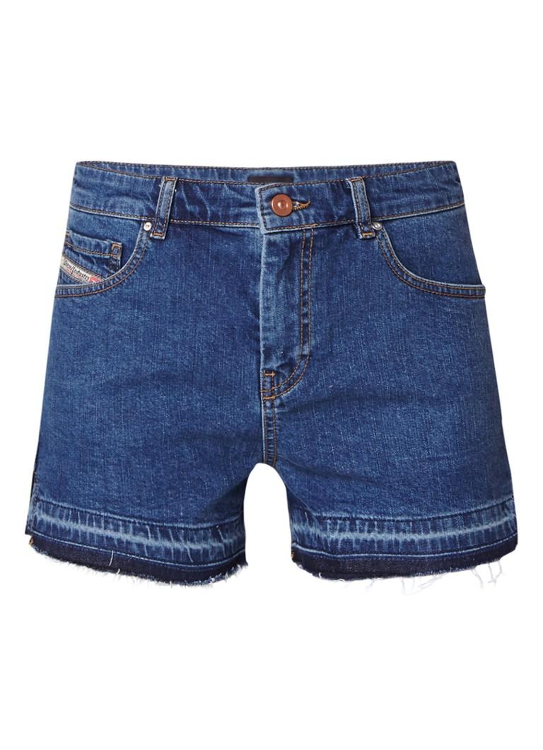 Diesel Saby high rise denim shorts met gerafelde zoom