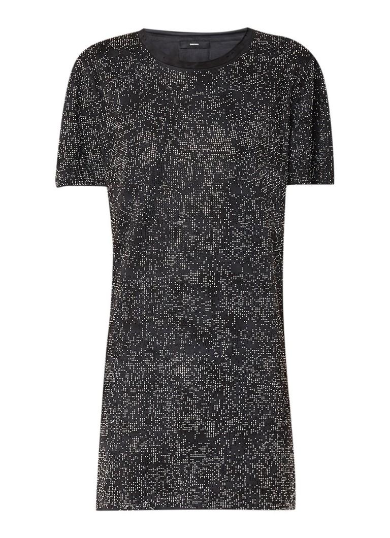 Diesel D-Ary loose fit mini-jurk met strass zwart