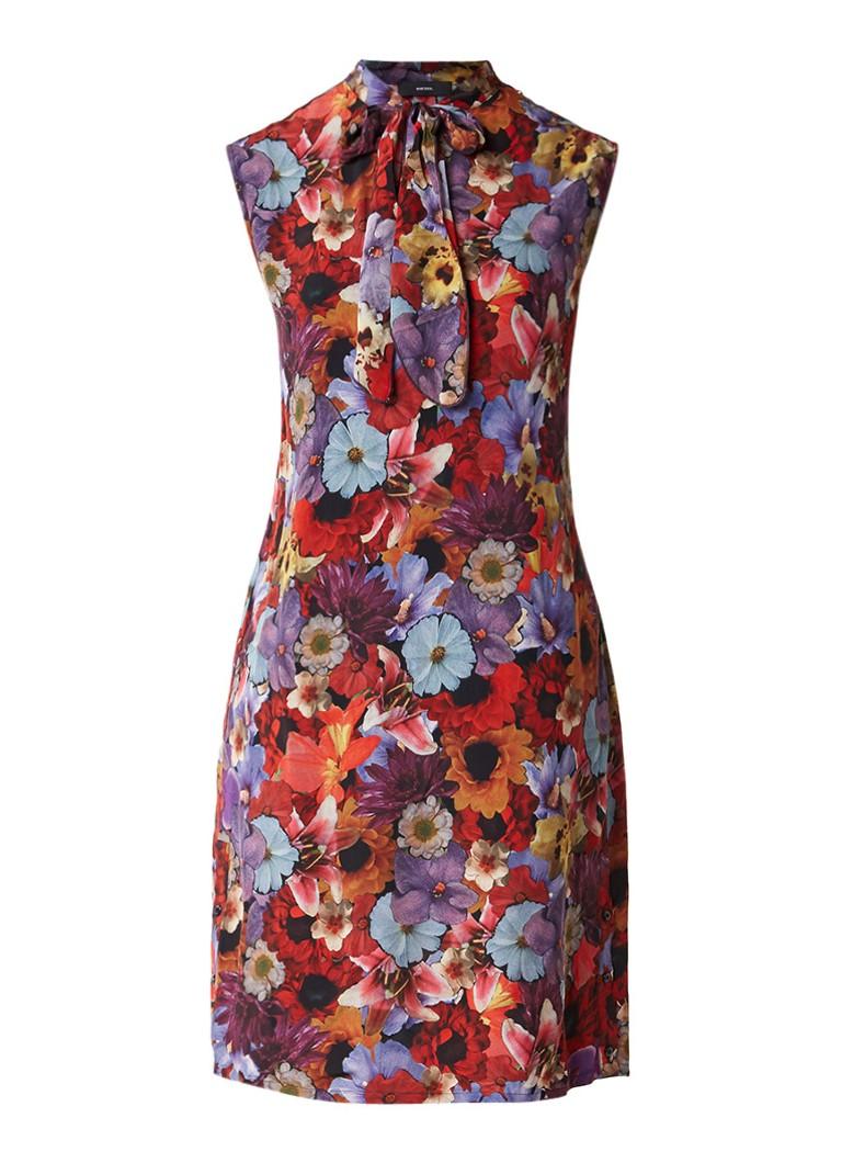 Diesel D-Lu midi-jurk met bloemendessin rood