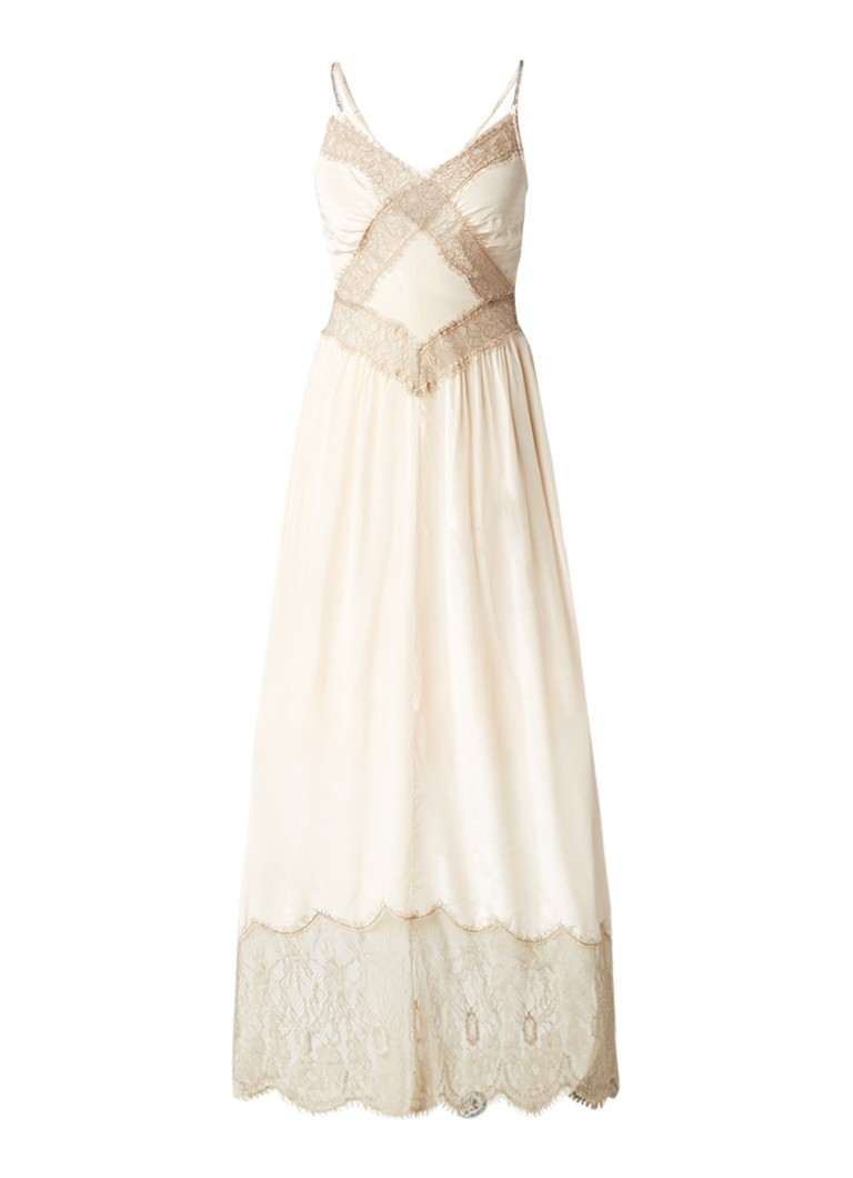 Diesel D-Willow maxi-slipdress met kant