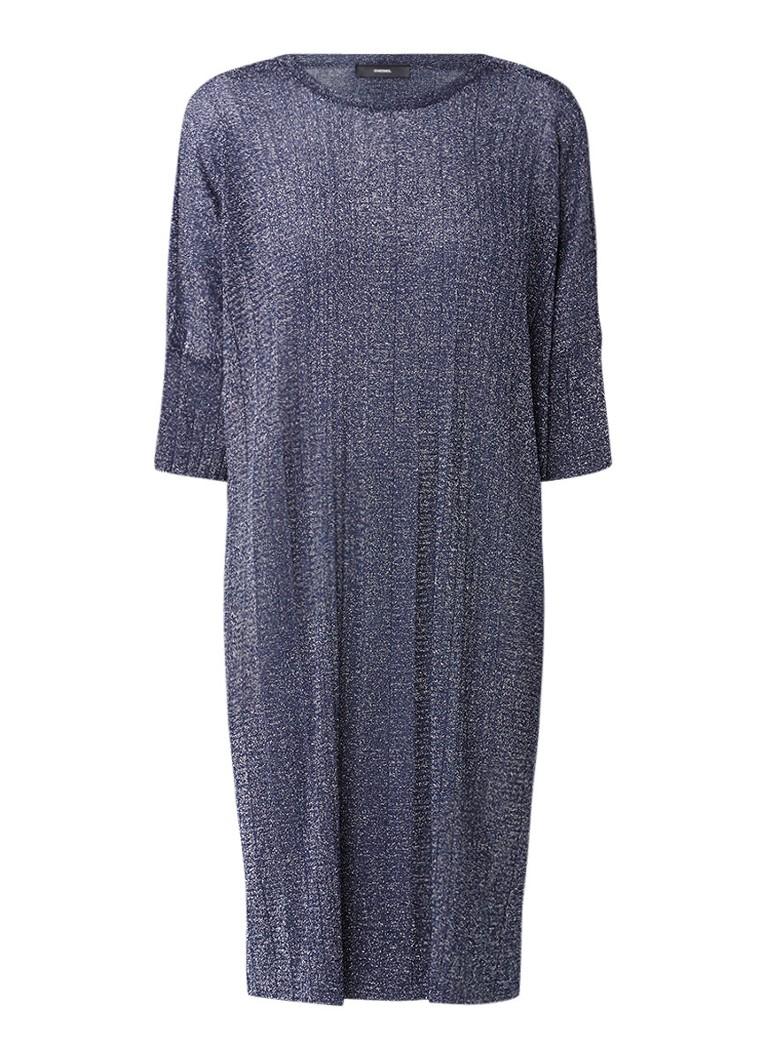 Diesel Abito oversized trui-jurk met lurex aubergine