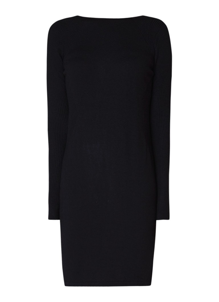Diesel M-Chains fijngebreide midi-jurk met kettingdetail zwart