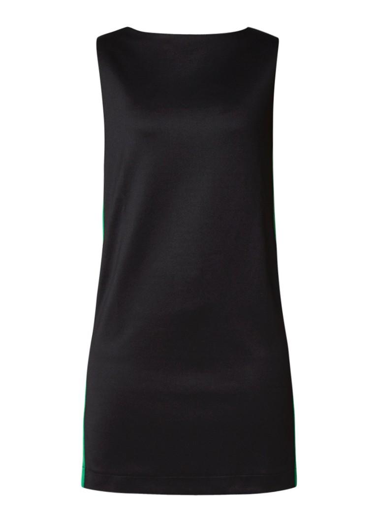 Diesel Ite jurk met contrastbies zwart