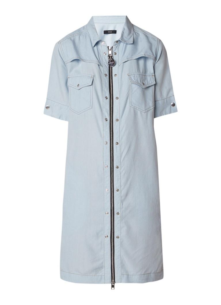 Diesel De-Jasper jurk in denim look met ritssluiting indigo