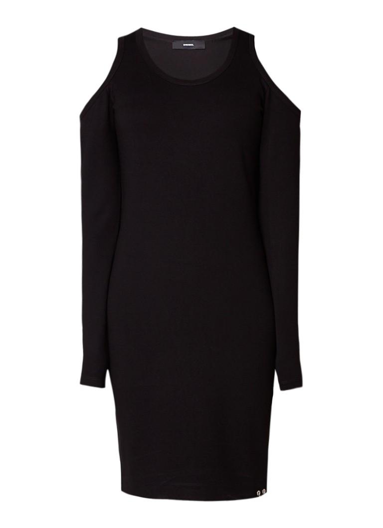 Diesel Cecyl cold shoulder jurk van jersey zwart