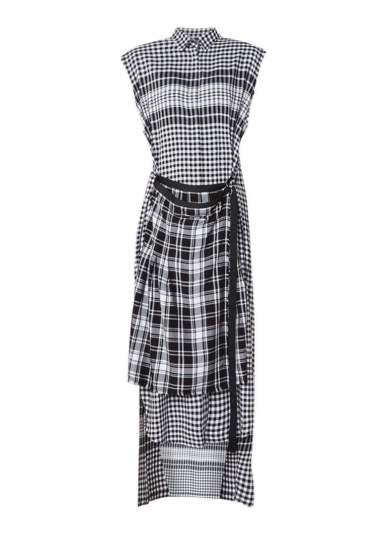 Diesel D-Helge maxi-jurk met ovelay en ceintuur zwart