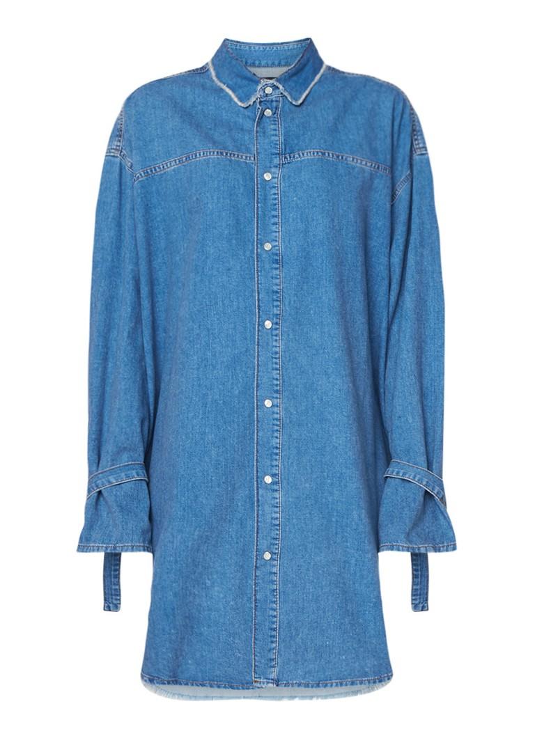 Diesel De-Lify oversized blousejurk van denim indigo