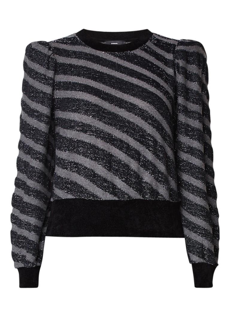 Diesel F-Ajax gestreepte sweater met lurex