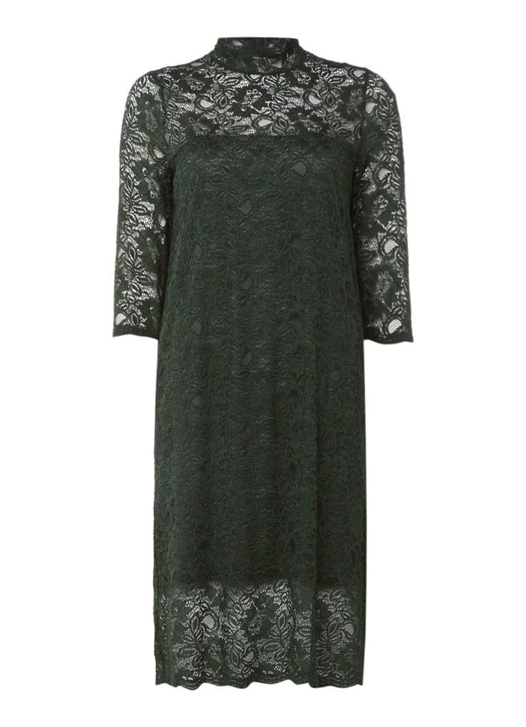 Ganni Kendal jurk van kant met col