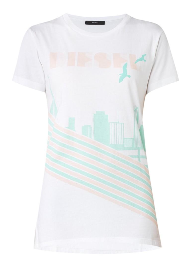 Diesel T-Sully T-shirt met grafische opdruk