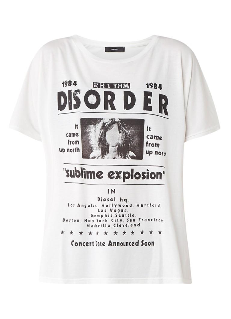 Diesel T-Hanna-AF T-shirt met print