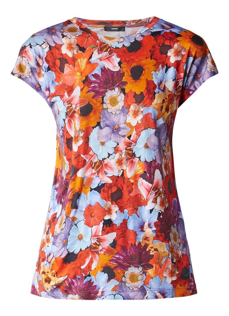 Diesel T-Serra-Ad T-shirt met bloemendessin