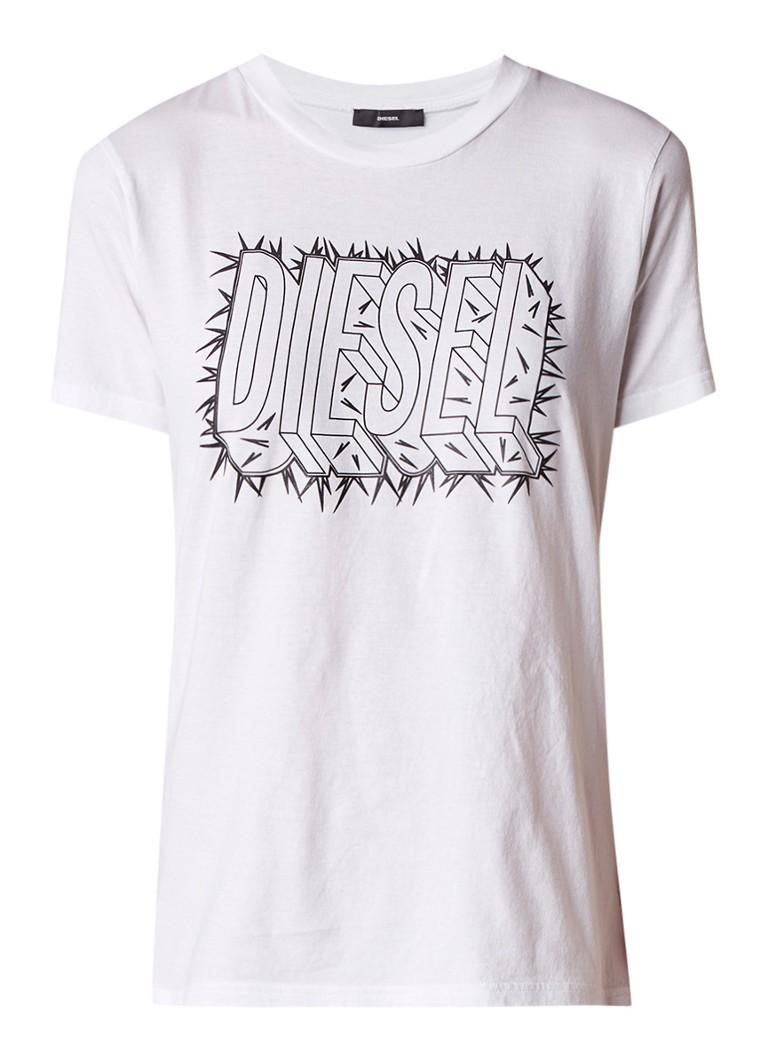 Diesel T-Sily-N T-shirt met logoprint