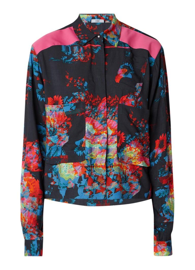 Diesel C-Sula blouse met bloemenprint en verstelbare mouw