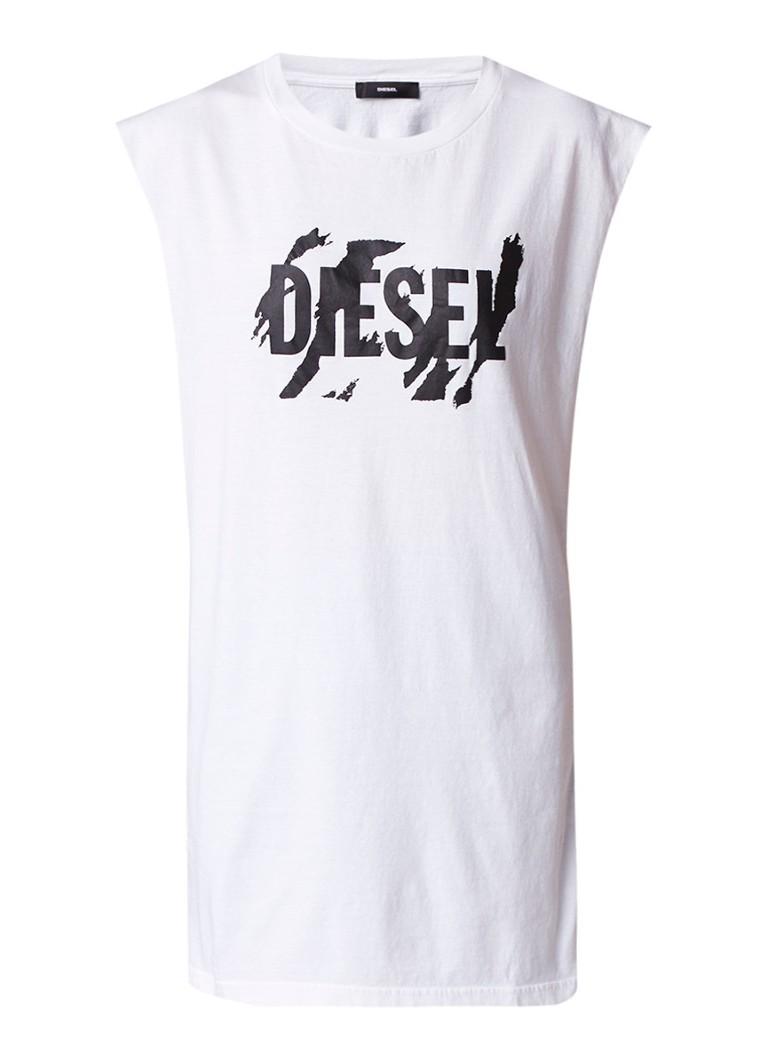 Diesel T-Lucas Longline singlet met logoprint