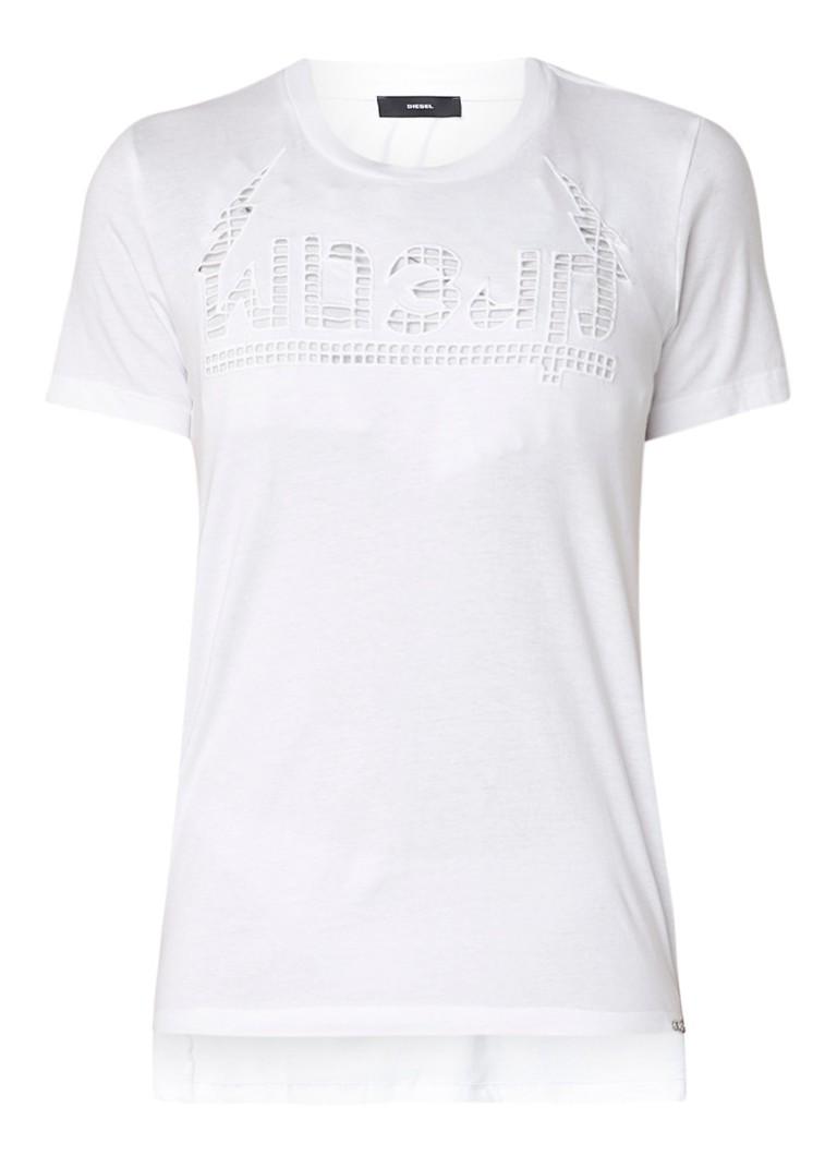 Diesel T-Silly T-shirt met opengewerkt dessin