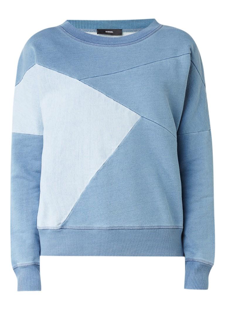 Diesel F-Blee sweater met inzet van denim