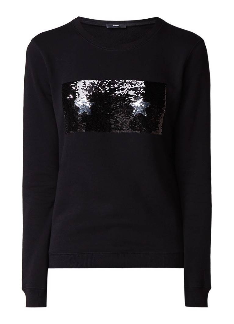 Diesel F-radi sweater met reversible pailletten
